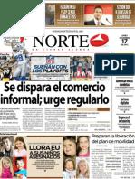 Periodico Norte de Ciudad Juárez 17 de Diciembre de 2012