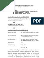 Supreme Court Detailed order on Altaf Hussain and MQM