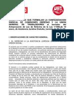 20121210 Ccooyugt Observaciones Justicia Gratuita