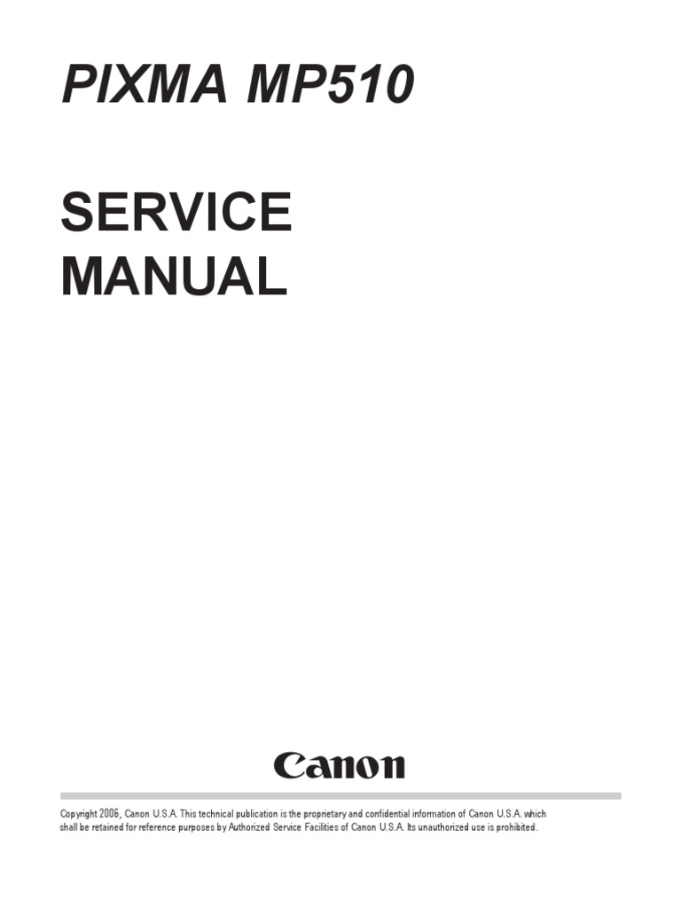 Service Manual: Pixma Mp510