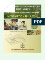 Neet Bulletin English 2013