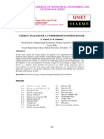 Exergy Analysis of a Compression Ignition Engine