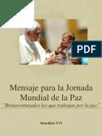 Mensaje Jornada Paz 2013