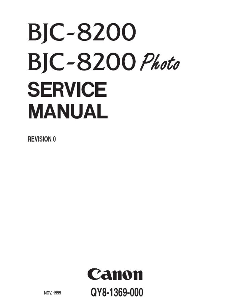 Canon BJC-8200 Service Manual.pdf   Electrical Connector   Printer  (Computing)