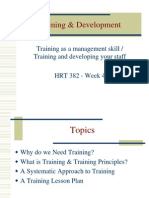 Training Development 382
