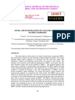 Study and Investigation of Analysis of Metal Matrix Composite