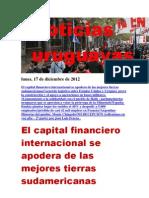 Noticias Uruguayas Lunes 17 de Diciembre Del 2012