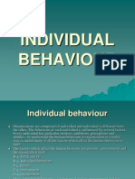 Individual Behavior