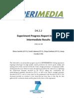 D4.2.2 CAR Experiment Progress Report Including Intermediate Results