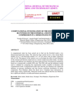 Computational Investigation of the Effect of Nose Bluntness on the External and Internal Compression in a Mixed Inline Intake