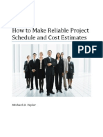 Article-How to Make Reliable Project Schedule and Cost Estimates