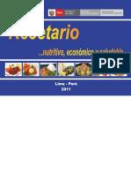 Recetario Nutritivo Economico y Saludable Ministerio de Salud 2011