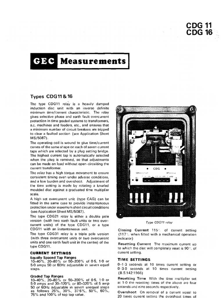 cdg 11 31 relay alternating current rh scribd com Starter Relay Wiring Diagram cdg 61 relay connection diagram