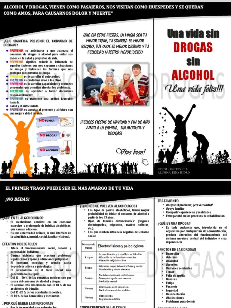 Triptico de Alcoholismo y Drogadicción