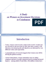 Womens investment decosion