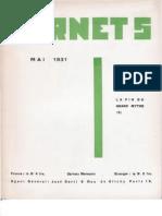 Carnet 5 - Mai 1931, par Carlo Suarès