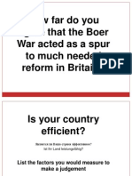 20121208 - The Impact of the Boer War - Social and Military Reform