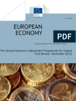 The Second Economic Adjustment Programme for Greece - First Review December 2012