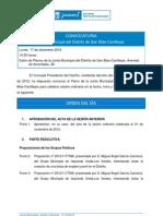 Orden del Día Pleno Ordinario diciembre 2012