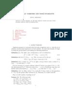 Algebraic varieties and its invariants