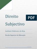 Direito Sujectivo