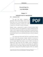 Research Report on TAX REFORMS in Pakistan