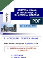 Genetica - Curs 1