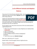 Big Data Use Cases for Different Verticals and Adoption Patterns