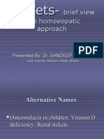 Rickets- A brief View With Homoeopathic Approach