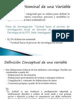 Definición Conceptual y operacional de una variable