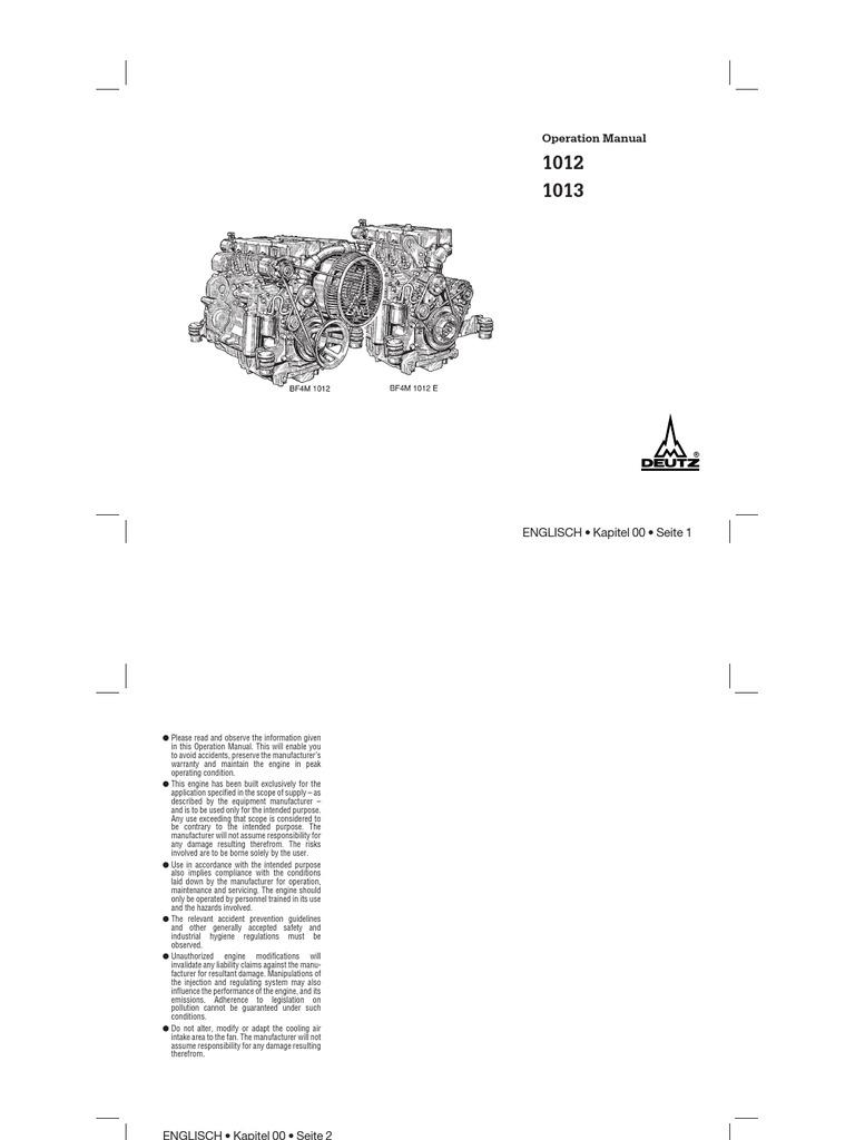 Operation Manual: ENGLISCH • Kapitel 00 • Seite 1