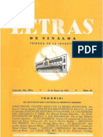 Letras de Sinaloa No. 23 Enereo de 1951
