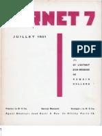 Carnet 7 - Juillet 1931, par Carlo Suarès