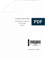 Liverpool Vision Limited Group Financial Statements (for the Year Ending 2011)