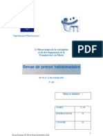 La revue de presse hebdomadaire de l'Observatoire de la corruption de Transparency Maroc (n°241 du 08 au 14 décembre 2012)