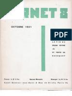 Carnet 8 - Octobre 1931, par Carlo Suarès