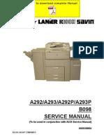 RICOH Aficio-551 Aficio-700 Aficio-1055 Service Manual Pages