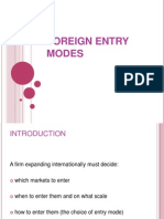 foreign entry modes