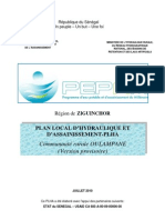 PLAN LOCAL D'HYDRAULIQUE ET 