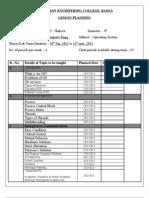 Lession Planning