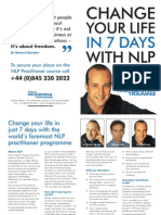 Change Your Life in 7 Days With Nlp Paul Mckenna Brochure