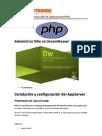 Administrar Sitio en DreamWeaver_Inst_appserv
