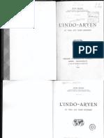 Bloch, 1935, L'Indo-Aryen.Du Veda aux temps modernes