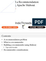IndicThreads Pune12 Recommenders Apache Mahout