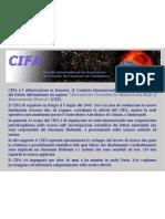 Presentazione del CIFA - Centro Internazionale per la Ricerca sui Fattori Ambientali