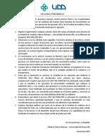 DECLARACION PÚBLICA Egresados 2012 CAS-UDD