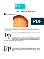 12 Letters That Didnt Make the Alphabet