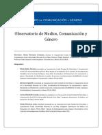 Informe Final Observatorio C y G-2012