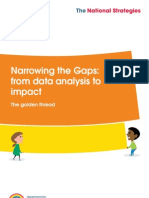 Narrowing the Gaps - From Data Analysis to Impact