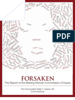 Forsaken - The Report of the Missing Women Commission of Inquiry